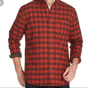 Weatherproof Vintage Red Plaid Flannel Shirt NWT